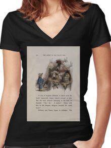 The Queen of Pirate Isle Bret Harte, Edmund Evans, Kate Greenaway 1886 0056 Gunpowder Women's Fitted V-Neck T-Shirt