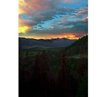 Greys and Torreys, sunset Photographic Print