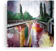 Crossing that bridge Canvas Print