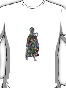 Abstract Frozen Princess Anna of Arendelle Silhouette T-Shirt