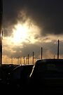 Sunset at the Santa Pod Raceway by Vicki Spindler (VHS Photography)
