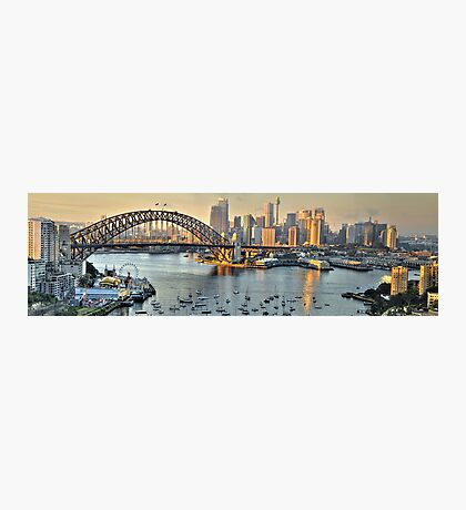 Before The Party - Sydney Harbour Bridge (35 Exposure HDR Panorama) - The HDR Experience Photographic Print