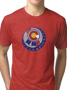 Colorado Blue Ribbon Bottle Cap Tri-blend T-Shirt