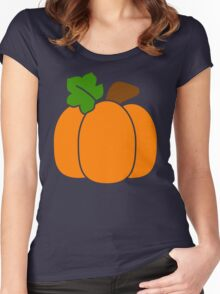 Cute Pumpkin Women's Fitted Scoop T-Shirt