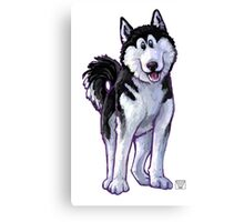 Animal Parade Husky Canvas Print