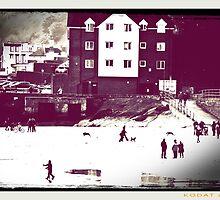 The Beach in Winter by Nicola jayne