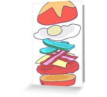 Burger Perfection Greeting Card