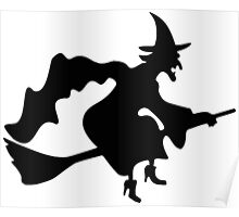 Witch Silhouette Poster