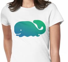 Happy Whale Womens Fitted T-Shirt