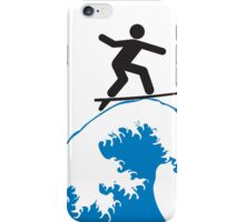 Artistic Surfing iPhone Case/Skin