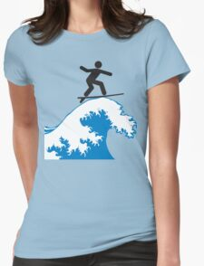 Artistic Surfing Womens Fitted T-Shirt