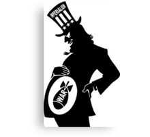 USA Imperialism, Illustration Silhouette Canvas Print