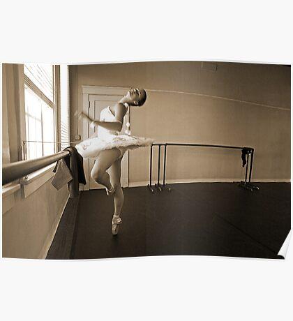 Ballerina in sepia Poster
