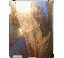 insect wing in wine glass: 3rd posted shot of day iPad Case/Skin
