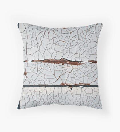 White Decay Throw Pillow