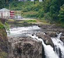 Snoqualmie Falls Hydroelectric Plant by Stacey Lynn Payne