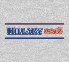 Neon Blue & Red HILLARY 2016 For President Kids Tee