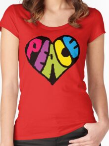 Peace Heart Women's Fitted Scoop T-Shirt