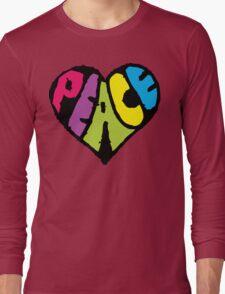 Peace Heart Long Sleeve T-Shirt