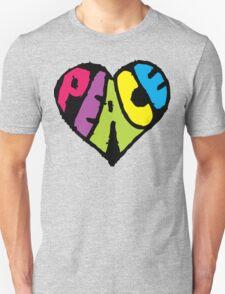 Peace Heart Unisex T-Shirt