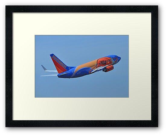 Southwest Airlines NBA Slam Dunk  by Bob Hortman