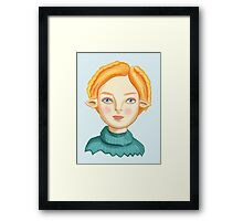 Helga The Blonde Elf Framed Print