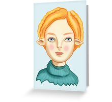 Helga The Blonde Elf Greeting Card
