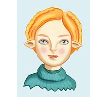 Helga The Blonde Elf Photographic Print