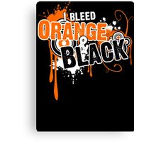 I Bleed Orange and Black Canvas Print