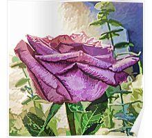 Single Purple Rose Poster