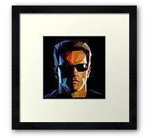 Terminator Triangulation Vector Framed Print