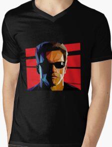 Terminator Triangulation Vector Mens V-Neck T-Shirt