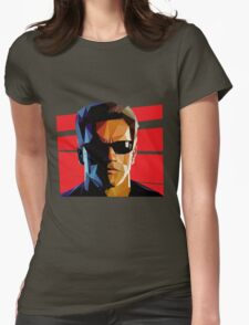 Terminator Triangulation Vector Womens Fitted T-Shirt
