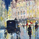 Prague Old Cab by Yuriy Shevchuk