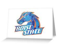 Boise State Logo Tie Dye Greeting Card