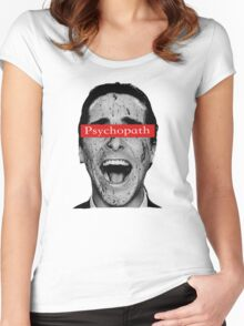 Patrick Bateman - Laughing Psychopath Women's Fitted Scoop T-Shirt