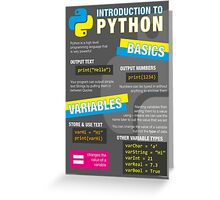 Intro to Python Poster (Computer Science GCSE) #1 Greeting Card