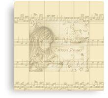 Vintage Carousel Dreams Sheet Music Canvas Print