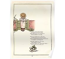 Under the Window Pictures and Rhymes for Children Edmund Evans and Kate Greenaway 1878 0064 Long Shadow Slow Creeps Poster