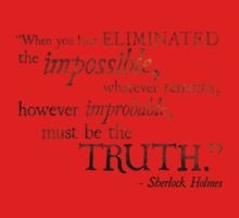 Sherlock Holmes - Eliminate the Impossible One Piece - Short Sleeve