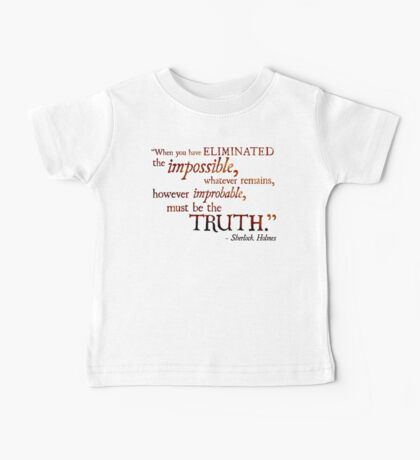 Sherlock Holmes - Eliminate the Impossible Baby Tee