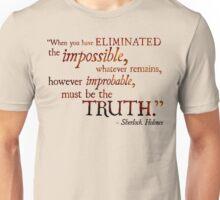 Sherlock Holmes - Eliminate the Impossible Unisex T-Shirt