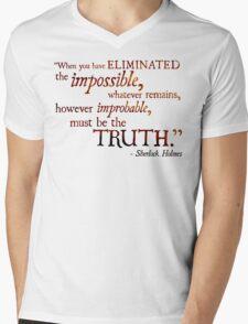 Sherlock Holmes - Eliminate the Impossible Mens V-Neck T-Shirt