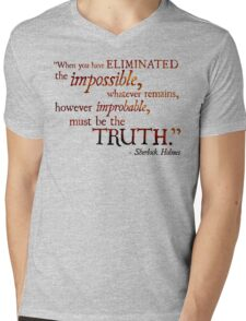 Sherlock Holmes - Eliminate the Impossible Mens V-Neck T-Shirt