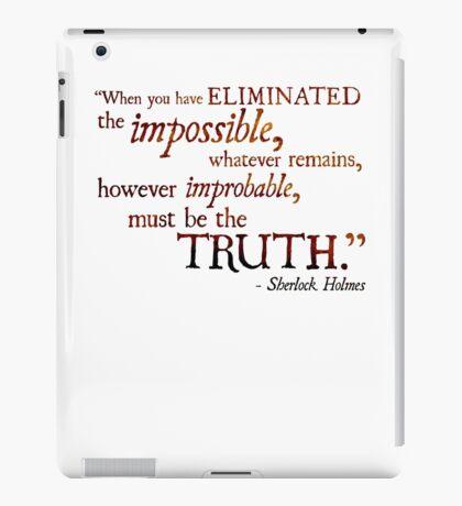 Sherlock Holmes - Eliminate the Impossible iPad Case/Skin
