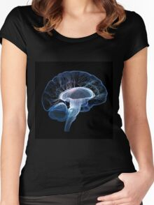 Human brain complexity - Conceptual Women's Fitted Scoop T-Shirt