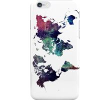 Map world art after Ice age iPhone Case/Skin
