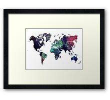 Map world art after Ice age Framed Print
