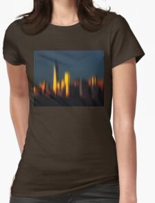 Morning in New York Womens Fitted T-Shirt