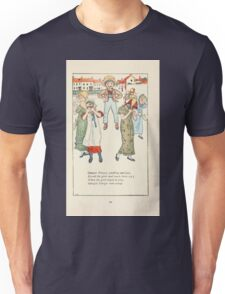 Mother Goose or the Old Nursery Rhymes by Kate Greenaway 1881 0053 Georgie Peorgie Pudding and Pie Unisex T-Shirt